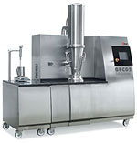 GPCG 2 (control by touch screen) with granulation, Wurster and rotor inserts