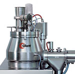 Glatt vertical granulator with conical working vessel